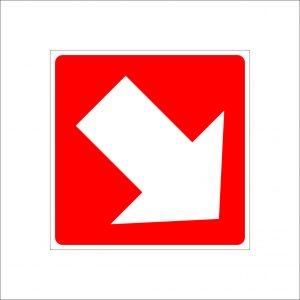(002) Знак направление