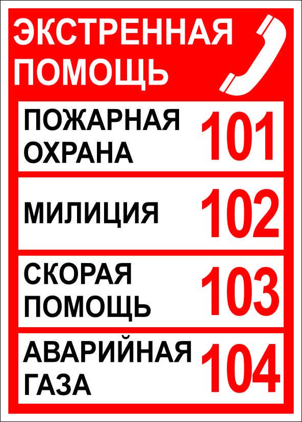 (013) Номера телефонов экстренной помощи