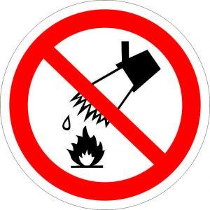(031) Знак Запрещается тушить водой