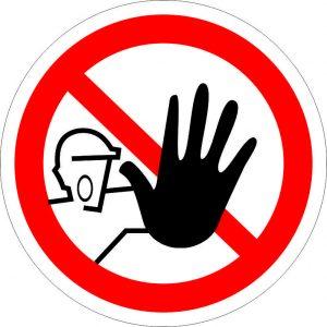 (033) Знак Доступ посторонним запрещен