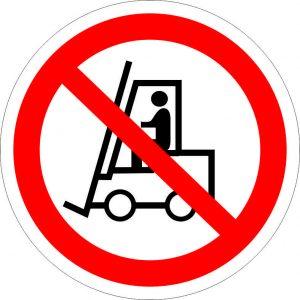 (034) Знак Запрещается движение средств напольного транспорта