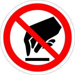 (035) Знак Запрещается прикасаться. Опасно.