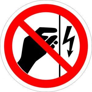 (036) Знак Запрещается прикасаться. Корпус под напряжением