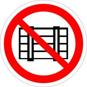 (039) Знак Запрещается загромождать проход и (или) складировать