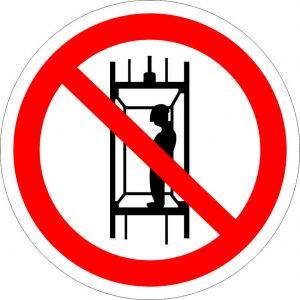 (040) Знак Запрещается подъем (спуск) людей по шахтному стволу