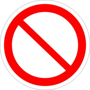 (045) Знак Запрещение (прочие опасности)