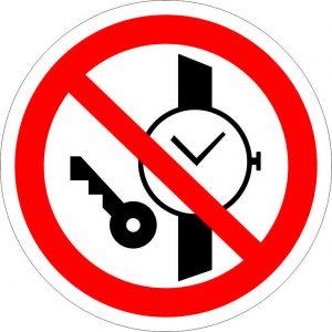(046) Знак Запрещается иметь при себе металлические предметы