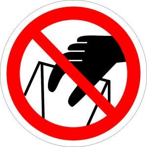 (049) Знак Знак Запрещается брать руками