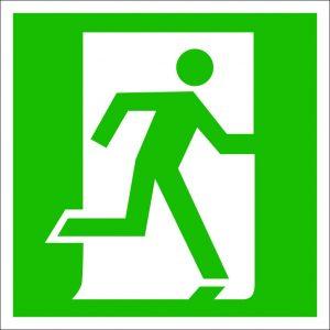 (051) Знак Дверь эвакуационного выхода (открывающаяся с правой стороны)