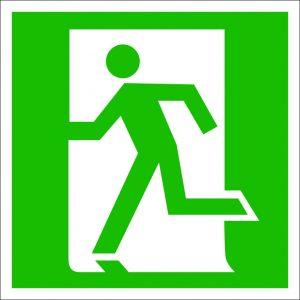(052) Знак Дверь эвакуационного выхода (открывающаяся с левой стороны)
