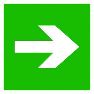 (053) Знак Направление эвакуации