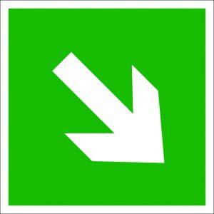 (054) Знак Направление эвакуации 1
