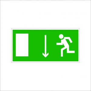 (068) Знак Указатель двери эвакуационного выхода (правосторонний)