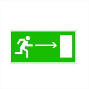 (070) Знак Направление к эвакуационному выходу (направо)