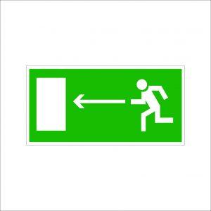 (071) Знак Направление к эвакуационному выходу(налево)