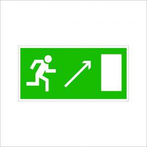 (072) Знак Направление к эвакуационному выходу(по наклонной плоскости направо вверх)
