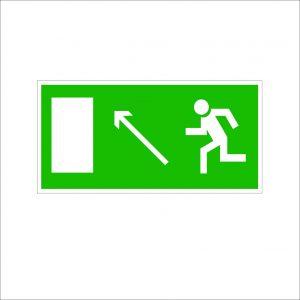 (073) Знак Направление к эвакуационному выходу(по наклонной плоскости налево вверх)